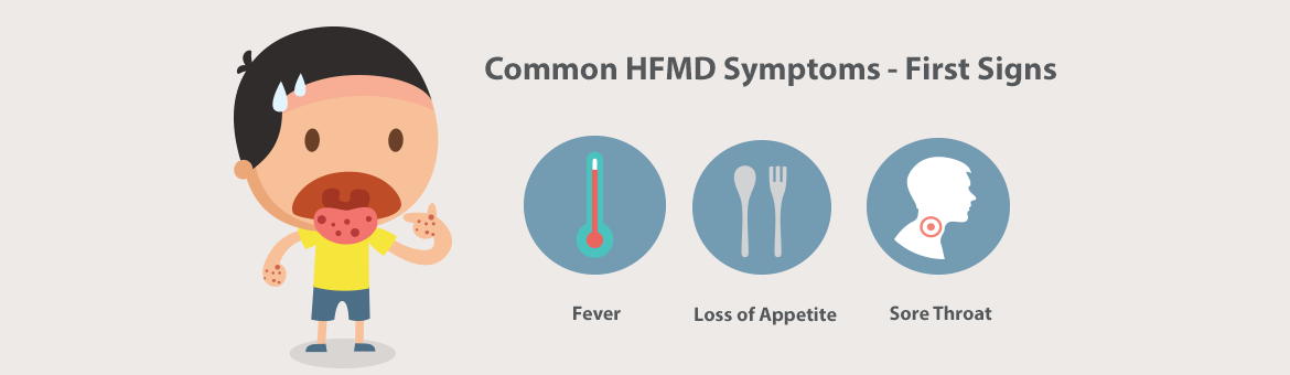 Common HFMD Symptoms - First Signs