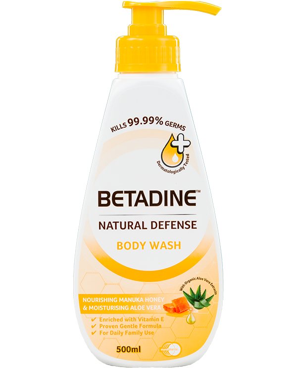 BETADINE® Natural Defense Nourishing Manuka Honey Body Wash 500ml